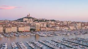 De Tijdtijdspanne van Marseille Frankrijk stock video
