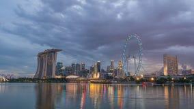 De Tijdtijdspanne van Singapore stock video