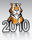 De Tijger 2010 van het metaal vector illustratie
