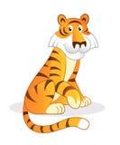 De tijger van het beeldverhaal Royalty-vrije Stock Afbeeldingen