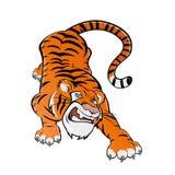 De tijger van het beeldverhaal stock illustratie