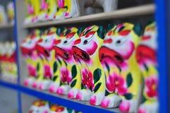 De tijger van het kleibeeldhouwwerk Royalty-vrije Stock Foto's