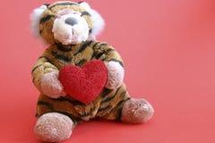 De tijger van valentijnskaarten Royalty-vrije Stock Afbeeldingen