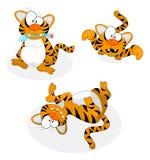 De tijgers van het beeldverhaal Stock Afbeeldingen