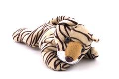 De tijgerstuk speelgoed van jonge geitjes stock afbeelding
