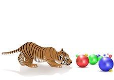 De tijgerwelp van het nieuw-jaar Stock Foto