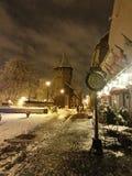 De timmerliedentoren in oud stadscentrum van Sibiu Stock Fotografie