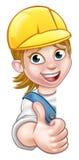 De Timmerman Mechanic van de vrouwenbouwer of Loodgieter Royalty-vrije Stock Afbeelding