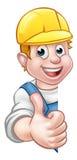 De Timmerman Mechanic van het bouwvakkermanusje van alles of Loodgieter Stock Foto's