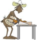 De timmerman van stierenamerikaanse elanden Stock Foto