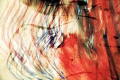 De tinten van de waterverfverf, penlijnen, rode was, uitstekende achtergrond Royalty-vrije Stock Fotografie