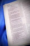De tio commandmentsna KJV Arkivfoto