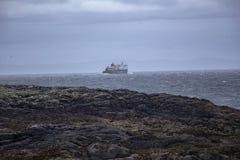 De Tiree-Veerboot die het eiland verlaten royalty-vrije stock afbeelding