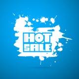 De Titel van de de winterverkoop op Abstracte Blauwe Hemelachtergrond Royalty-vrije Stock Afbeelding