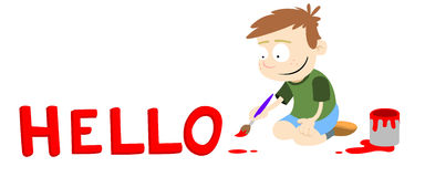 De titel van de tekst - Hello Stock Foto's