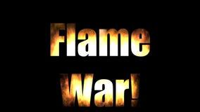 De Titel van de vlamoorlog met Alpha Channel royalty-vrije illustratie