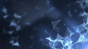 De titels cinematic achtergrond van het vlecht abstracte netwerk