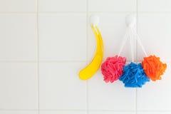 De toebehoren van de badkamers Stock Foto