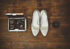 De toebehoren van de bruid en jewelries Stock Foto
