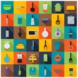 De Toebehoren van de keuken Stock Foto's