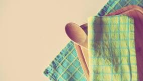 De Toebehoren van de kookboekkeuken Stock Foto's