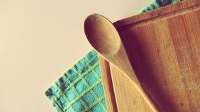 De Toebehoren van de kookboekkeuken Stock Afbeeldingen