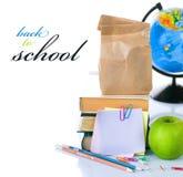 De toebehoren van de school Stock Foto