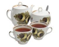 De toebehoren van de thee Stock Foto's