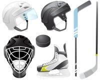 De toebehoren van het hockey Stock Foto's
