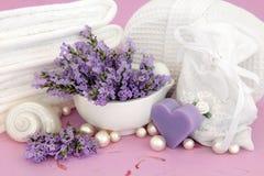De Toebehoren van het Kruid van de lavendel Stock Afbeelding