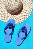 De toebehoren van het strand Stock Afbeeldingen