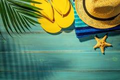 De toebehoren van het strand stock afbeelding