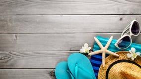 De toebehoren van het strand Stock Foto's