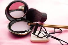 De Toebehoren van vrouwen - Kosmetische Achtergrond royalty-vrije stock foto's