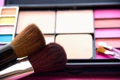 De Toebehoren van vrouwen - Kosmetische Achtergrond royalty-vrije stock afbeelding