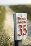 De toegang van het strand Stock Foto's