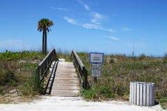De toegang van het strand Stock Fotografie