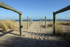 De Toegang van het strand Stock Afbeelding