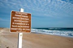 De Toegang van het strand bij Nationale Kust Canaveral stock afbeelding