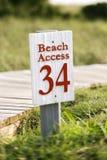 De toegang van het strand op Kaal HoofdEiland, Noord-Carolina. royalty-vrije stock afbeeldingen