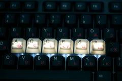 De toegangssleutel van het toetsenbord Stock Afbeelding