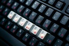 De toegangssleutel van het toetsenbord Stock Fotografie