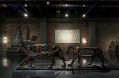 2016 de Toekenning van de het Beeldhouwwerkbeurs van Ceng Zhushao en in aanmerking genomen de werkententoonstelling Stock Foto
