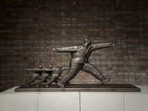 2016 de Toekenning van de het Beeldhouwwerkbeurs van Ceng Zhushao en in aanmerking genomen de werkententoonstelling Stock Fotografie