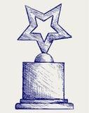 De toekenning van de ster tegen Stock Afbeeldingen