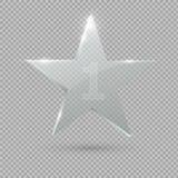 De toekenning van de glastrofee Ster Vector illustratie Stock Fotografie