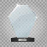 De toekenning van de glastrofee Vector illustratie Vector illustratie Royalty-vrije Stock Afbeeldingen