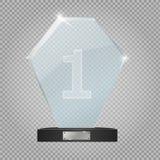 De toekenning van de glastrofee Vector illustratie Vector illustratie Stock Afbeeldingen