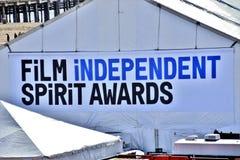 De Toekenningsbanner van de film Onafhankelijke Geest Stock Foto