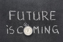 De toekomst komt royalty-vrije stock afbeeldingen